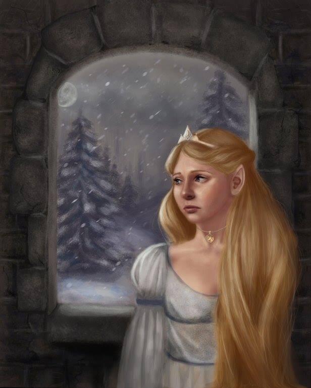 The Elvin Princess - Illustration by Angela Murdock