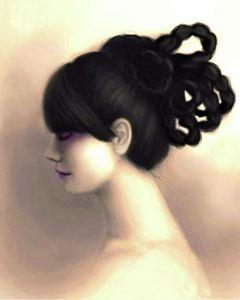 Braids A Female Portrait by Angela Murdock