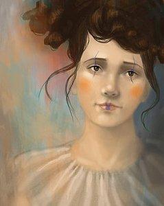 Clown Girl Portrait - Angela Murdock
