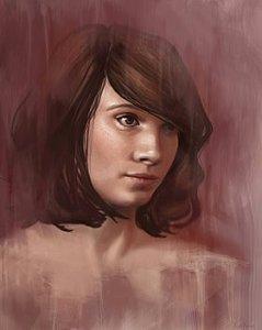 Shy - A Female Portrait - Angela Murdock