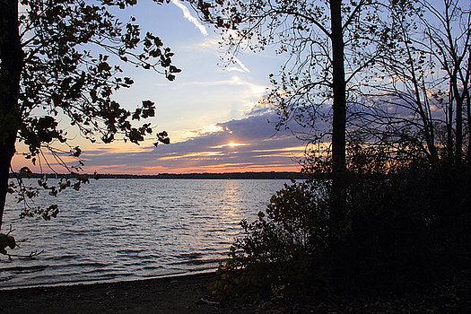 sunset-at-alum-creek- Landscape Print by Angela-Murdock