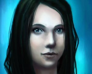 Lara - digital art painting by Angela Murdock