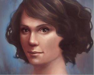 Jillian - Digital art painting by Angela Murdock