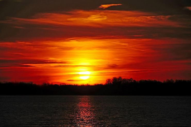 red skies at night - Sunset Photography Print by Mike Murdock