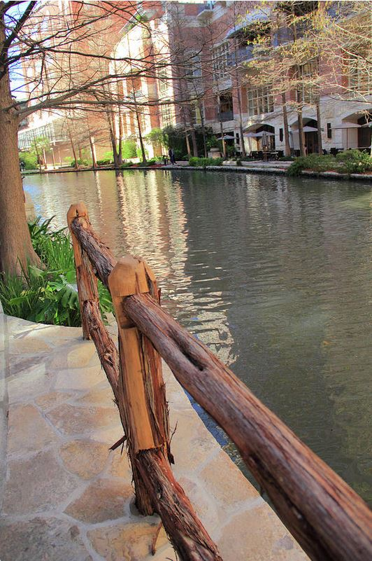 Along the Fence San Antonio River Walk Photo by Angela Murdock
