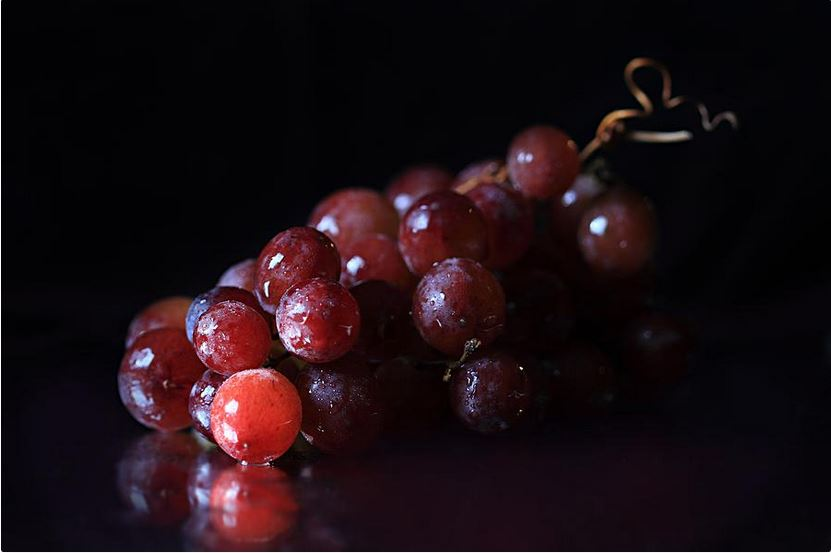 red grapes still life fine art photography by Angela Murdock