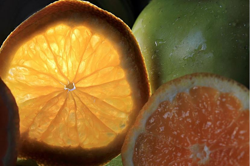 Bright Clementine fruit still life photography by angela murdock