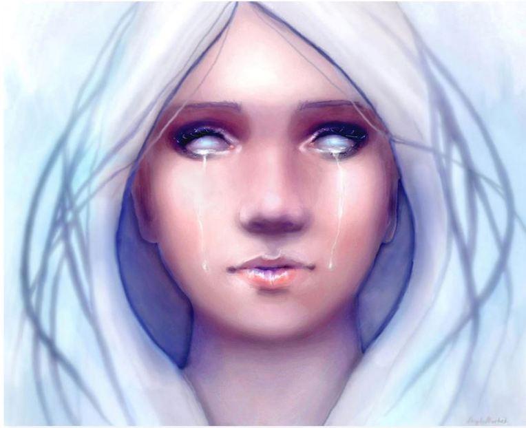 Frozen - Fantatsy portrait - art by Angela Murdock