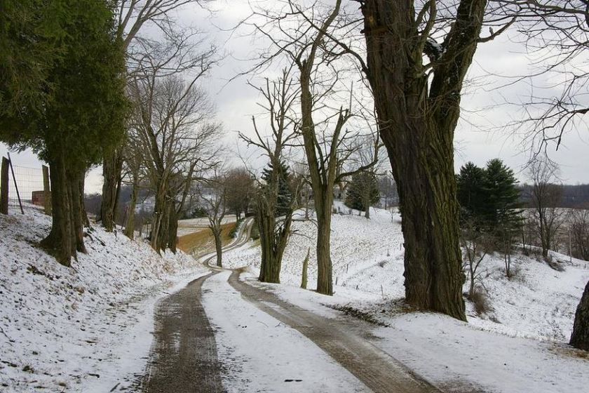 winter-road photography by Mike Murdock