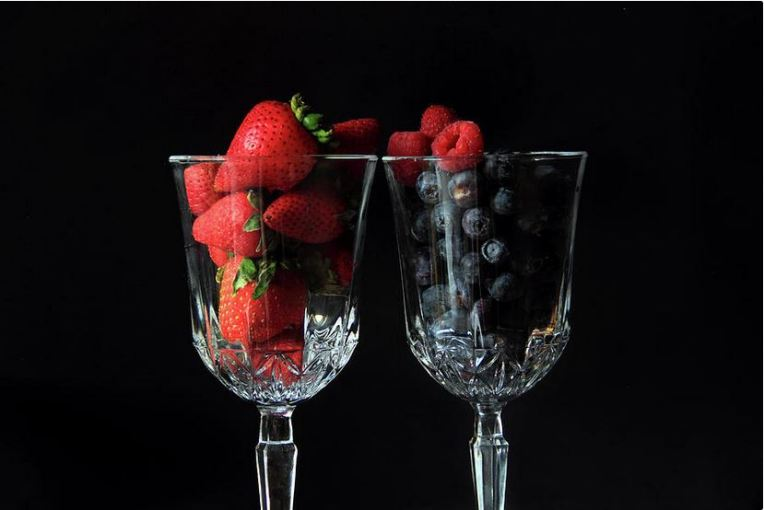 Cups of Berries Photography Prints by Angela Murdock