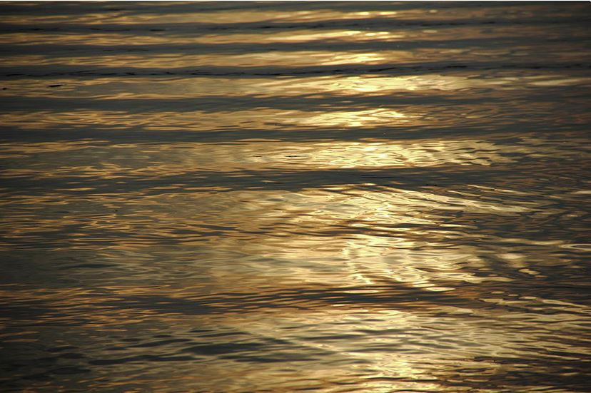 Calming water abstract Photograph by Angela Murdock