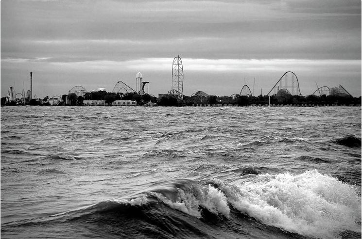Cedar Point on the Lake black and white: Photoraphy Prints by Angela Murdock