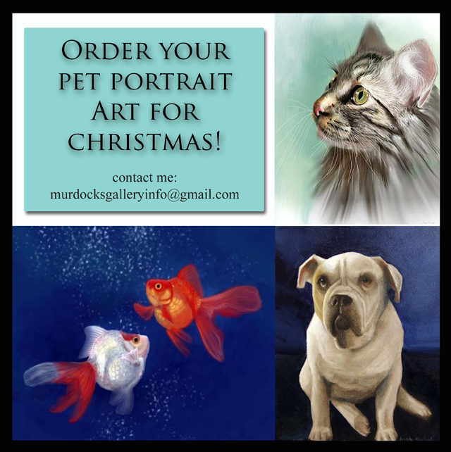 Pet Portraits by Angela Murdock
