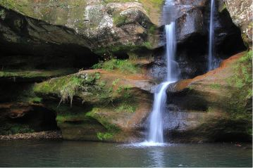The Upper Falls: Hocking Hills Fine Art Photography by Angela Murdock