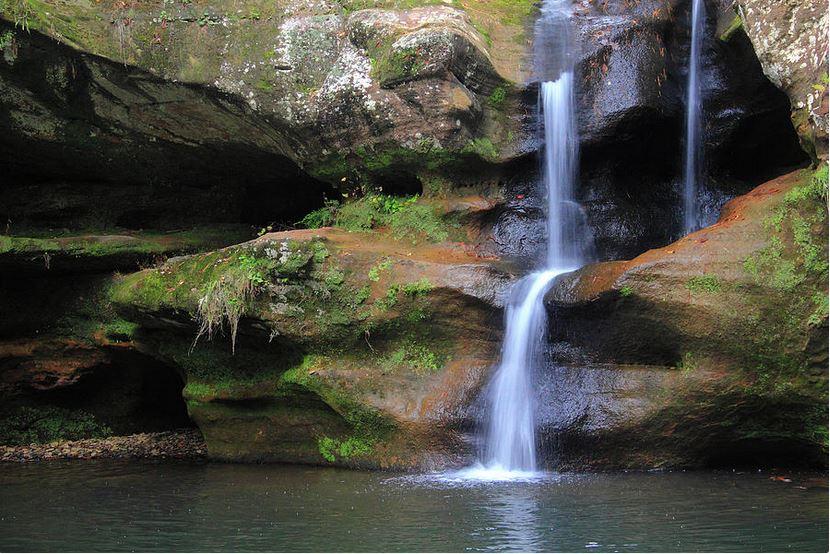 The Upper Falls: Hocking Hills Fine Art Photography by Angela Murdock