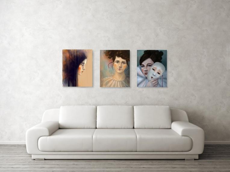 Portrait Art Fine Art Prints by Angela Murdock