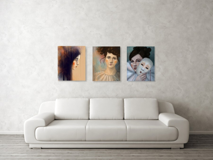 Portrait Art Fine Art Prints by Angela Murdock