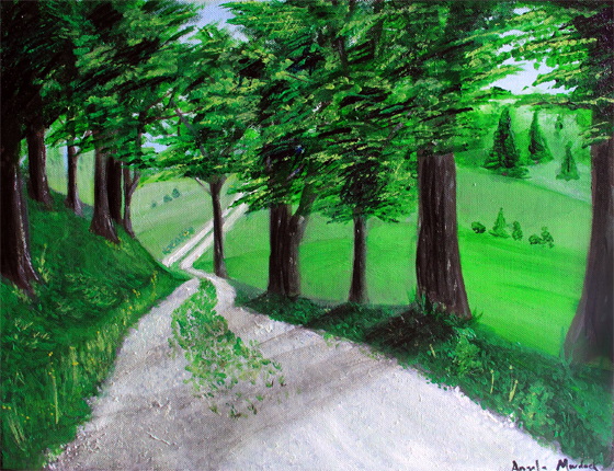 dad's painting small