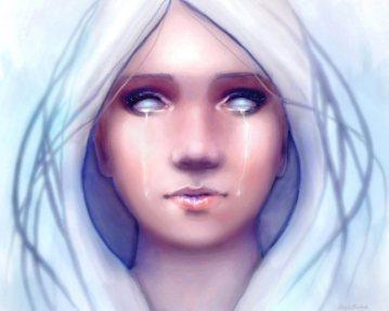 Frozen: Fantasy Portrait Art by Angela Murdock