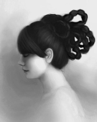 Braids: Portrait Art in Black and White by Angela Murdock