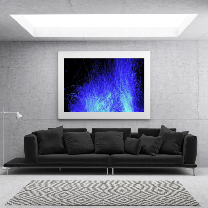 Electric Blue Flames 1 display