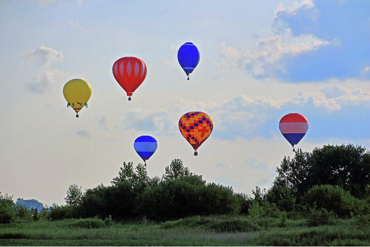 hot air balloon launch